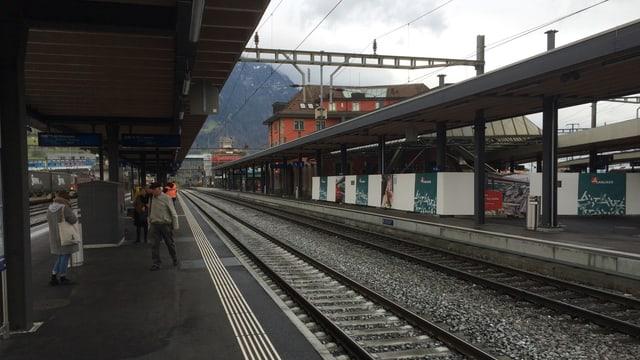 Bahnhof Arth-Goldau ohne Passagiere