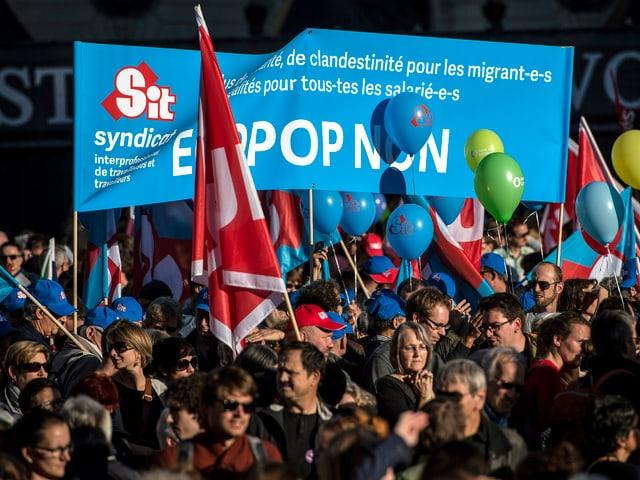 Demonstranten in Bern