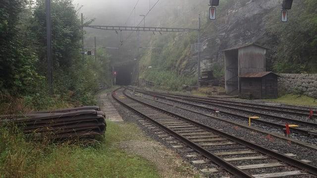Tunnel und Geleise