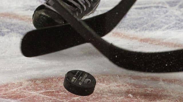 Puck da hockey.