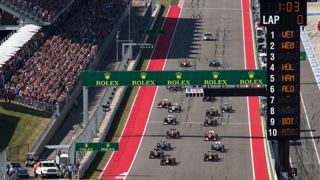 Die SRG sicherte sich die Formel-1-Übertragungsrechte bis 2016.