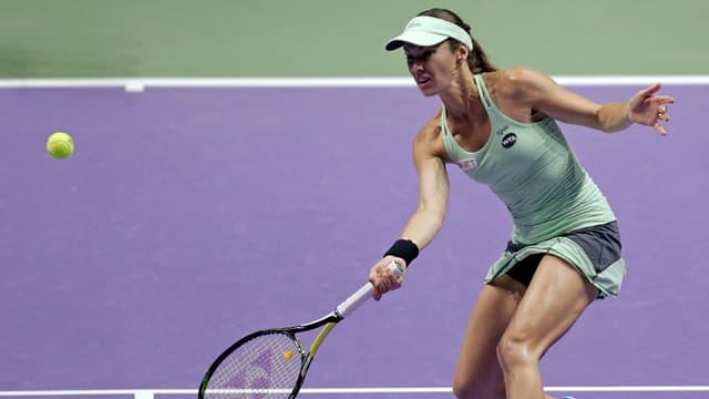 Martina Hingis hat die Mixed-Titelverteidigung vepasst, kann aber noch im Doppel gewinnen.