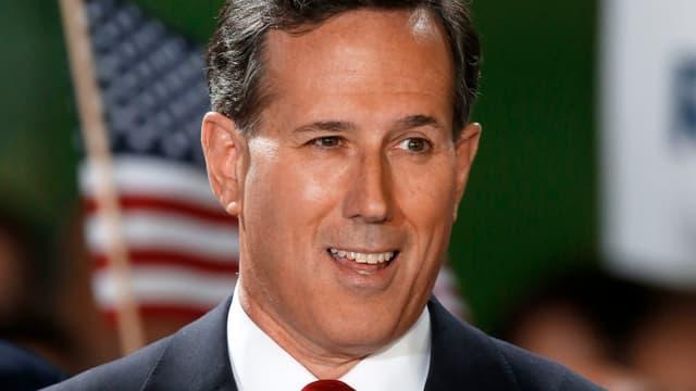 Santorum bei der Ankündigung seiner Kandidatur in Cabot in Pennsylvania.