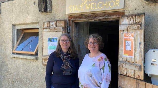 Las soras Maria Crottogini-Melchior (sanestra) e Sabina Melchior.