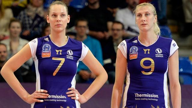 Olesia Rykhliuk und Mammadova Natalya verlieren mit Volero Zürich bei Dynamo Moskau.