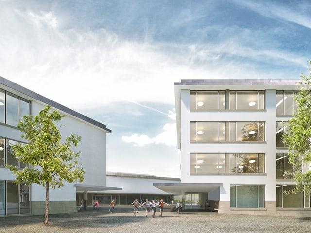 Visualisierung Schulhaus