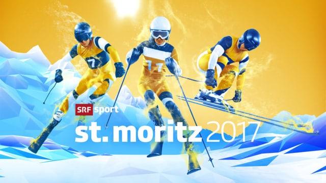 SRF Sport Logo zur Ski-WM 2017 in St. Moritz