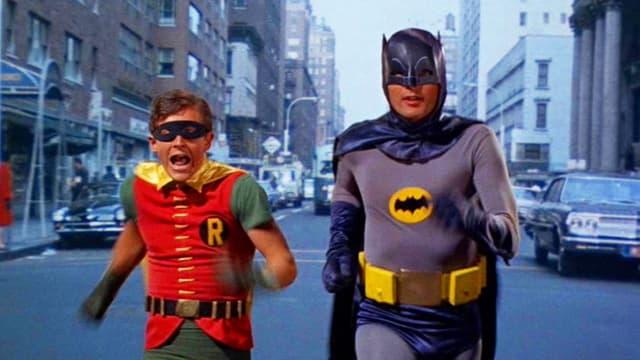 Ein Klassiker: Batman und Robin – jagen und gejagt werden.