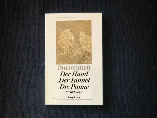 «Der Tunnel und andere Meistererzählungen» von Friedrich Dürrenmatt liegen auf einem dunklen Sessel