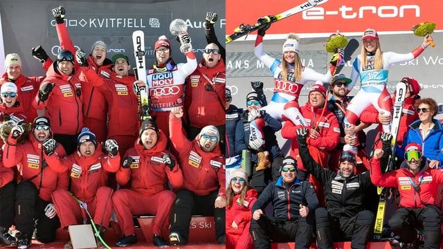 Die Schweizer Skifahrerinnen und Skifahrer holten die Nationenwertung.
