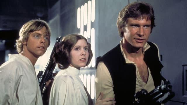Luke Skywalker, Prinzessin Leia und Han Solo aus «Star Wars»