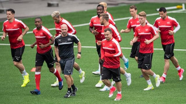 Die Schweizer Nationalmannschaft im Training