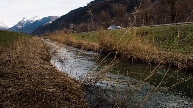 Der Grossgrundkanal - kleines Gewässer neben einer Strasse