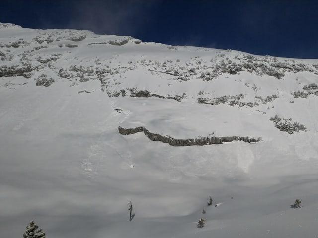 Am Fusse eines Berges steht auf einer Fläche eine Messstation.