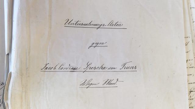 Fotografia da las acta istoricas dal 1847
