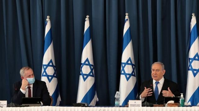 Gantz und Netanjahu
