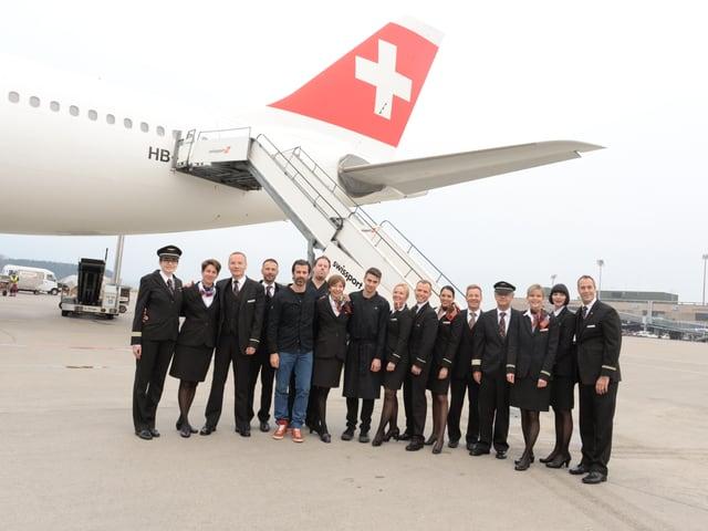 Spitzenkoch Andreas Caminada und die Swiss Crew