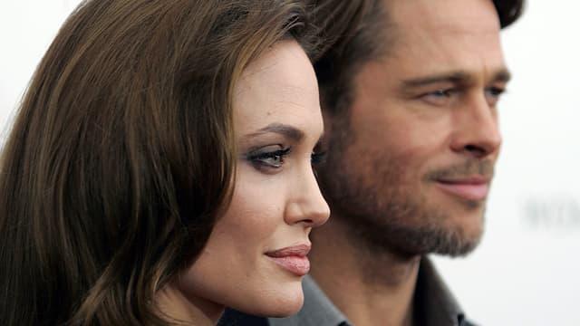 Porträt von Angelina Jolie und Brad Pitt