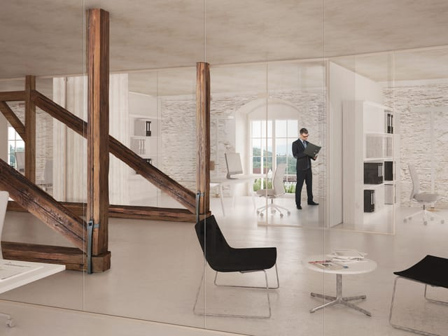 Visualisierung eines Büros.