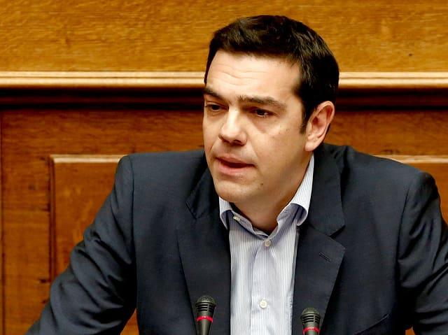 Tsipras Nahaufnahme.