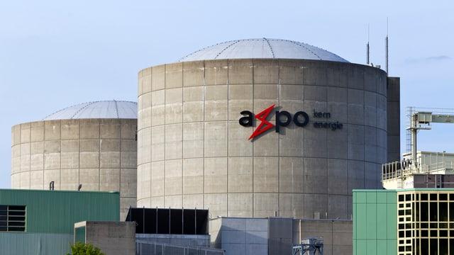 Purtret da Betznau cun il logo da l'Axpo.
