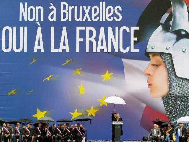 Anti-EU-Wahlkampf des Front National