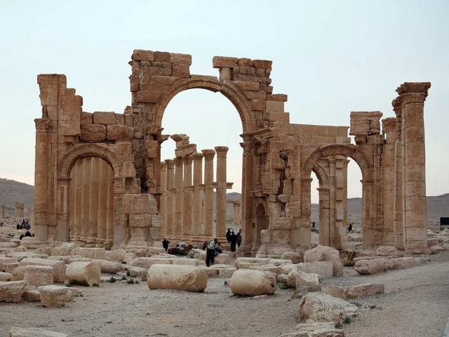 Blick auf die antike Oasenstadt Palmyra.