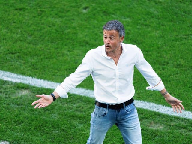 Spaniens Trainer Luis Enrique.