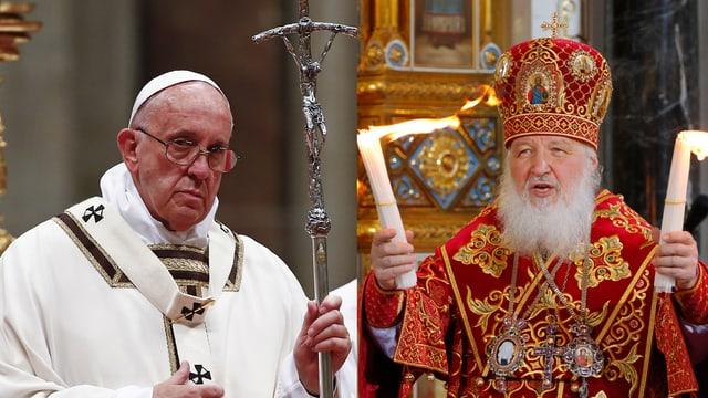 Papst Franziskus und der Patriarch Kyrill I.