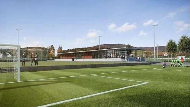 Visualisierung neuer Sportplatz Breite in Erlinsbach
