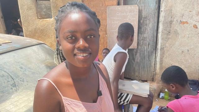 Maria Mabuya, eine 15-jährige Schülerin.