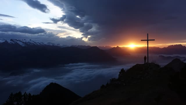 Sonnenuntergang auf der Rigi Hofluh.