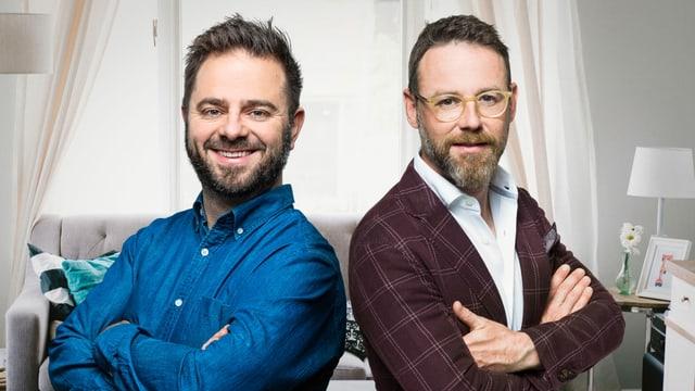 Laden Sie ein zu einem unterhaltsamen Samstagabend «Zäme dihei»: Marco Thomann und Nik Hartmann.