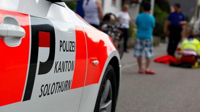 Polizeiauto bei Unfall