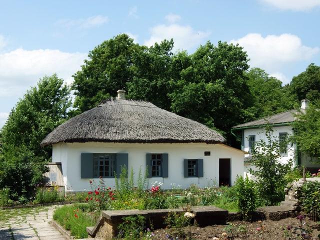 Haus mit Strohdach
