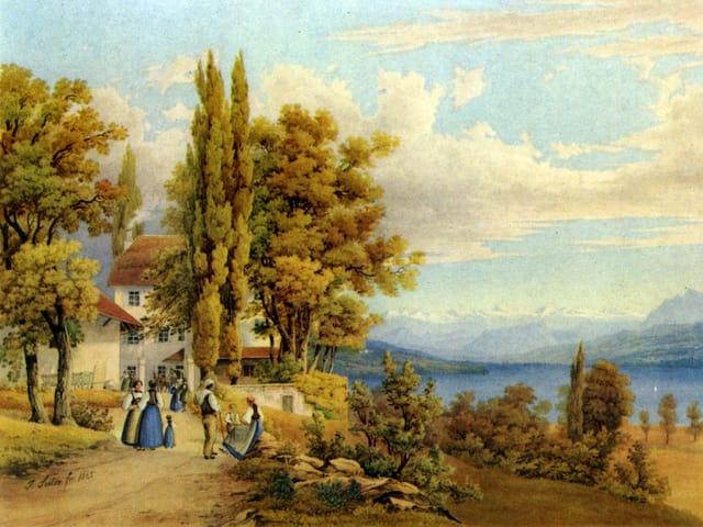 Zeichnung Schloss Brestenberg