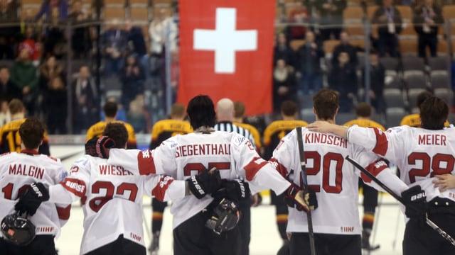 Die Schweizer U20-Nati am letztjährigen WM-Turnier.