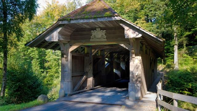 Ein Bild der jetzigen Hergiswaldbrücke.
