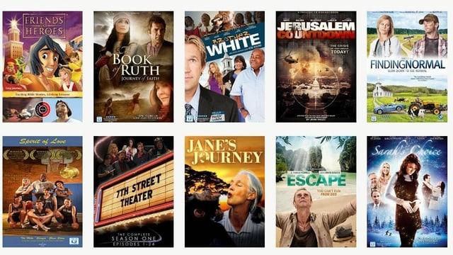 Verschiedene Filmplakate.