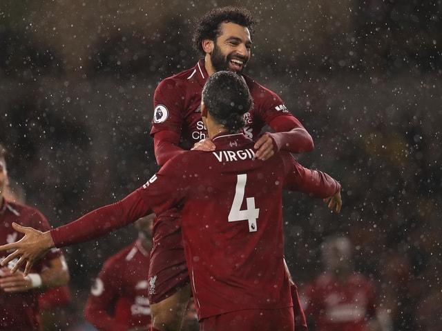 Mohamed Salah und Virgil van Dijk.