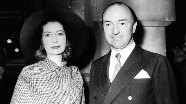 John Profumo (r.) und Ehefrau Valerie Hobson.