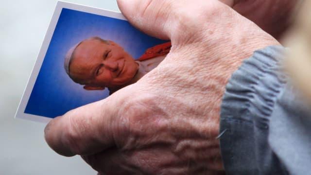 Postkarte von Papst Johannes Paul II.