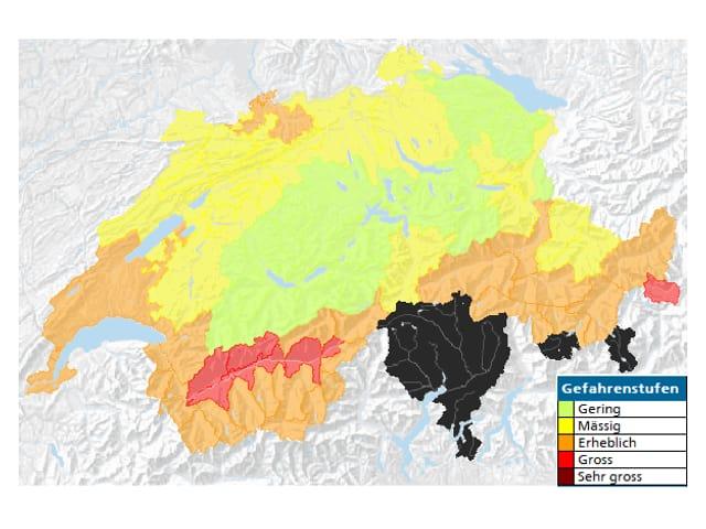 Waldbrangefahr Karte.