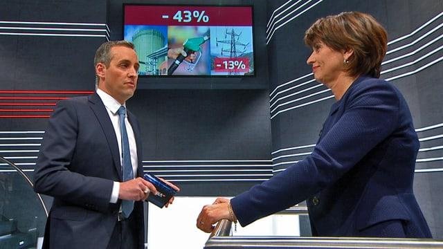 Energieministerin Doris Leuthard auf dem Prüfstand.