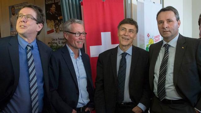 Albert Rösti, Peter Brand, Luzi Stamm und Werner Salzmann.