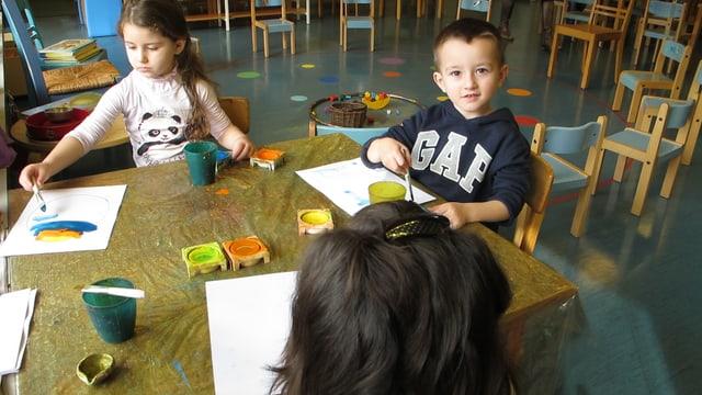 Kinder im Vorkindergarten