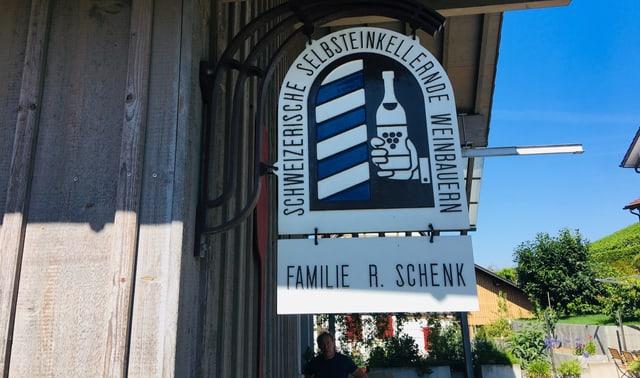Eingang zum Weinkeller von Rudolf Schenk