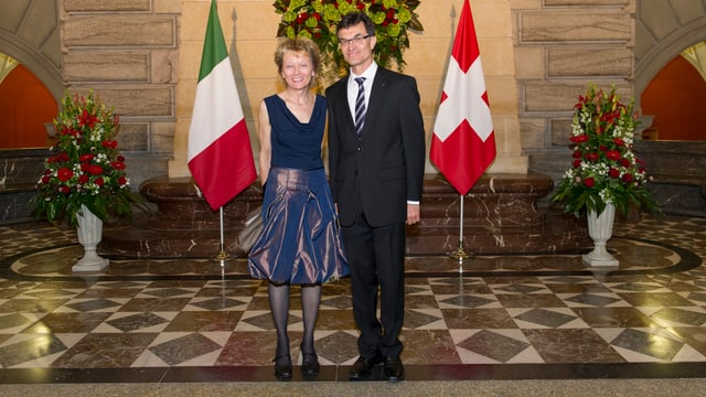 Widmer-Schlumpf und Ehemann Christoph