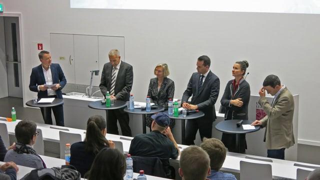 Podiumsgespräch mit den Ständeratskandidatinnen und Kandidaten.