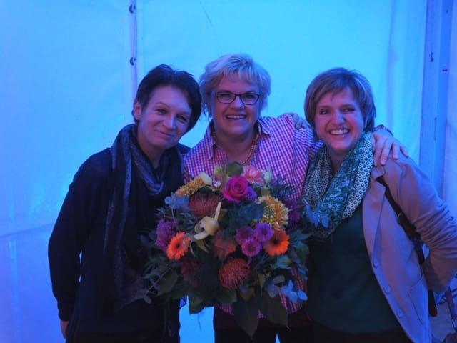 Anni Simonet, Romana Zumbühl und Erna Köfer.